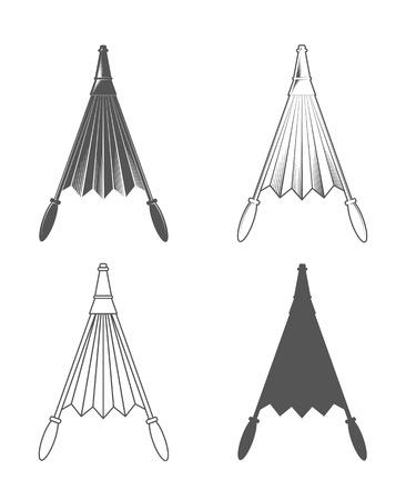 Belows. Vintage Style. Vector Illustration isolated on white background. Blacksmith equipment.