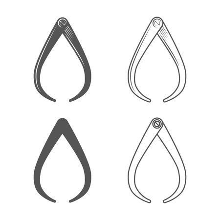 pied   � coulisse: �triers. Style vintage. Vector Illustration isol� sur fond blanc. �quipements forgeron. Illustration