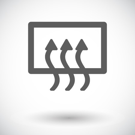 recirculate: Rear window defrost. Single flat icon on white background Illustration