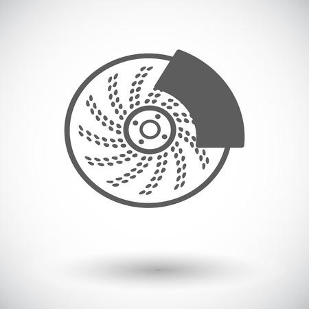 brakes: Automobile brakes. Single flat icon on white background. Vector illustration.