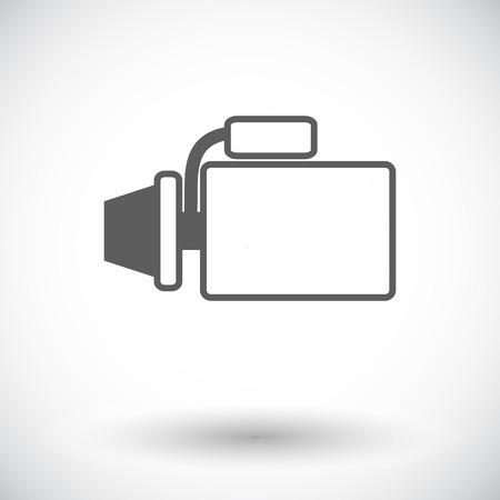 alternator: Automotive starter. Single flat icon on white background Illustration