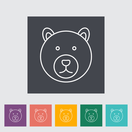 Bear outline icon on the button