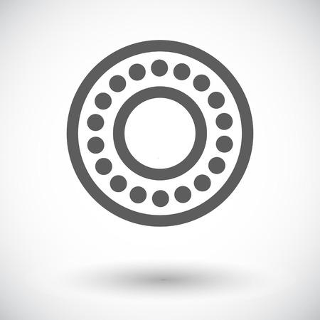 Bearing. Single flat icon on white background