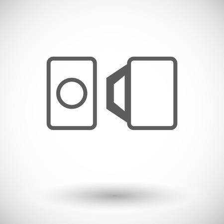 safety harness: Belt. Single flat icon on white background