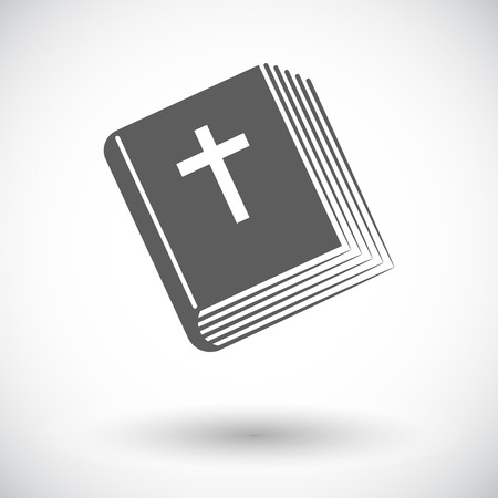 Bible. Single flat icon on white background Vector