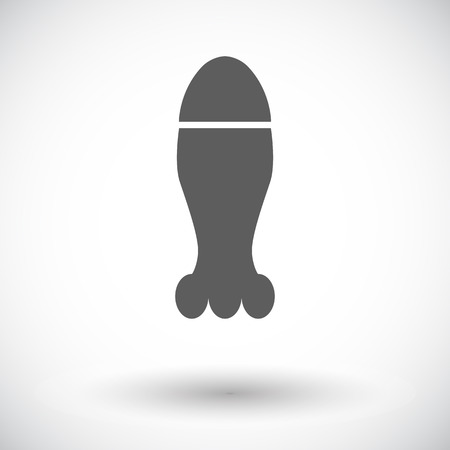 nuclear weapons: Bomb. Single flat icon on white background Illustration