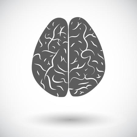mentality: Human brain. Single flat icon on white background