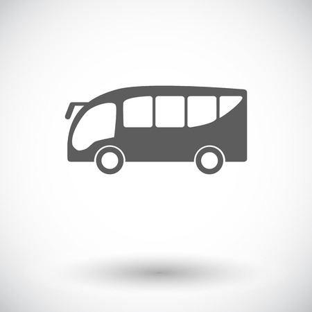 Bus. Single flat icon on white background Vector