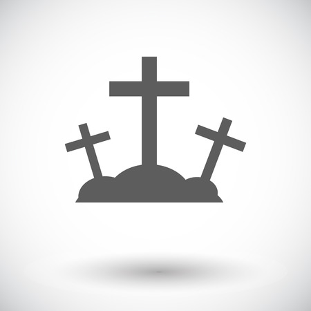 Calvary. Single flat icon on white background