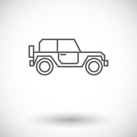 offroad: Offroad car. Single flat icon on white background. Vector illustration.