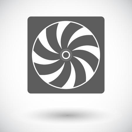 coolant temperature: Radiator fan. Single flat icon on white background Illustration