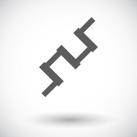 crankshaft: Crankshaft. Single flat icon on white background. Vector illustration.