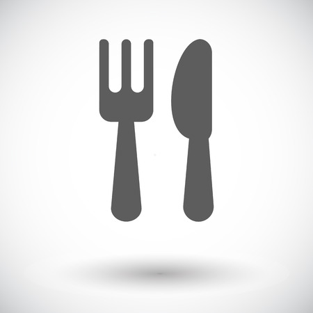 Cutlery. Single flat icon on white background. Vector illustration. Vector