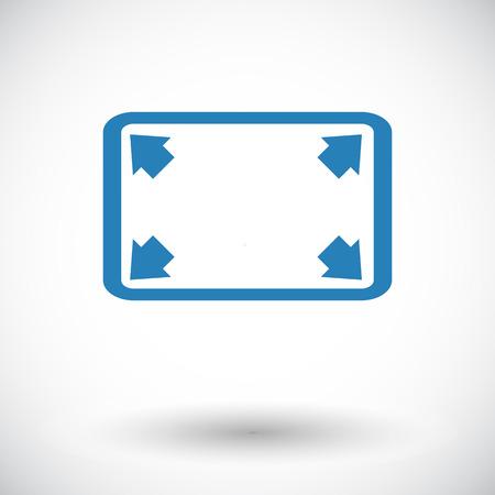 Deploying video. Single flat icon on white background. Vector illustration.