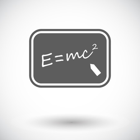 mc2: E = mc2. Single flat icon on white background. Vector illustration.