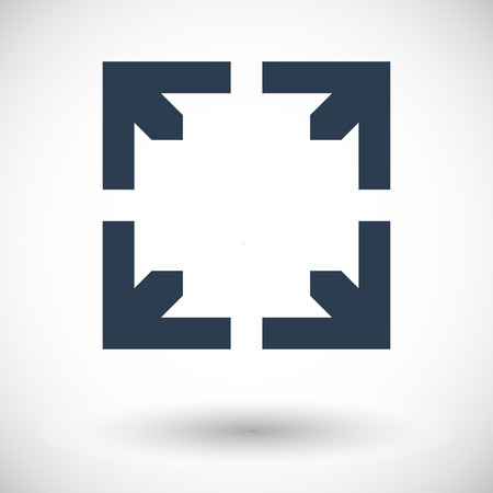 wider: Deploying video. Single flat icon on white background. Vector illustration.