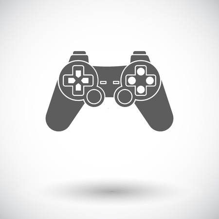 player controls: Gamepad. Single flat icon on white background. Vector illustration.
