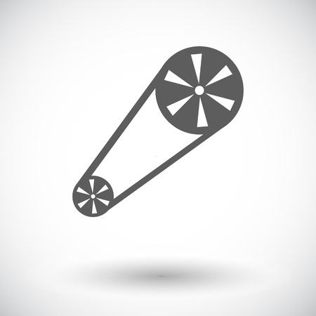 timing belt: Timing belt. Single flat icon on white background. Vector illustration.