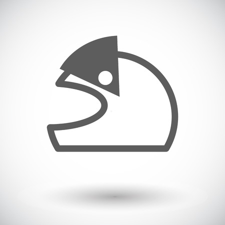 protection gear: Motorcycle helmet. Single flat icon on white background. Vector illustration.