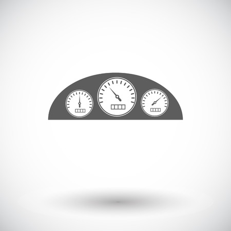 dashboard: Dashboard. Single flat icon on white background. Vector illustration.