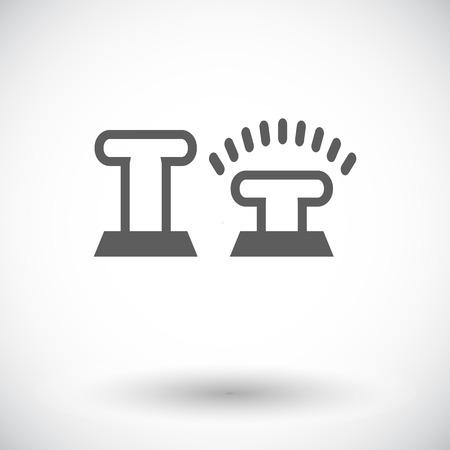 remote lock: Lock car doors. Single flat icon on white background. Vector illustration.