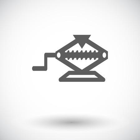 screw jack: Jack. Single flat icon on white background. Vector illustration.