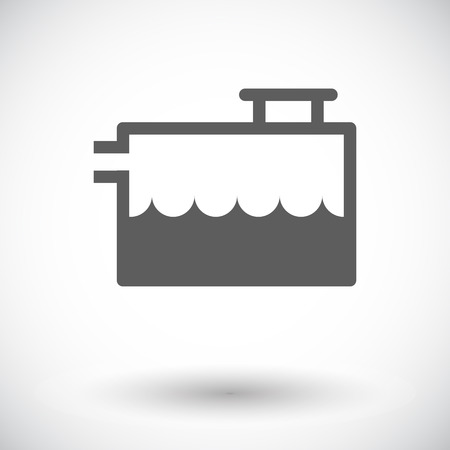 coolant: Low coolant indicator. Single flat icon on white background. Vector illustration.
