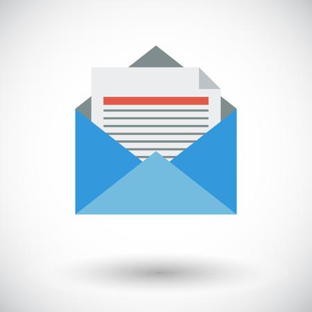 Envelope. Single flat icon on white background. Vector illustration. Vektorové ilustrace