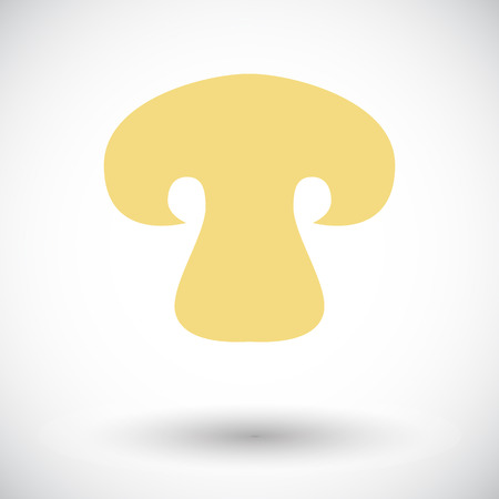 button mushroom: Mushroom. Single flat icon on white background. Vector illustration. Illustration