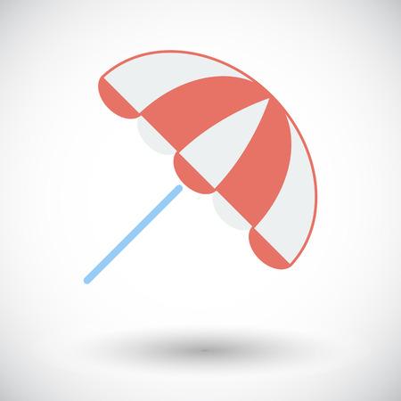 parasol: Parasol. Single flat icon on white background. Vector illustration.