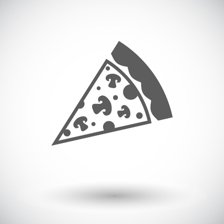 take out: Pizza. Single flat icon on white background. Vector illustration.
