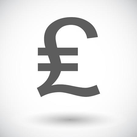 british money: Pound. Single flat icon on white background. Vector illustration.