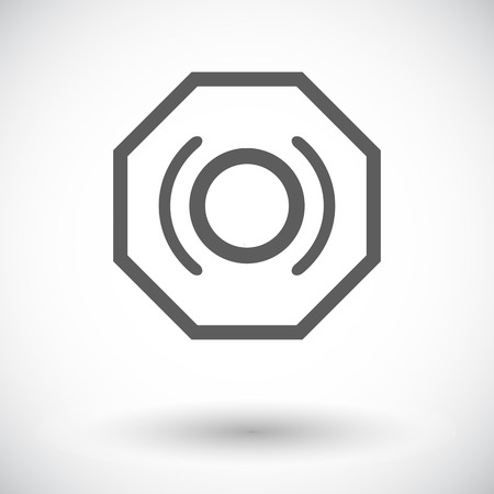 motorist: Problems with brake fluid. Single flat icon on white background. Vector illustration.