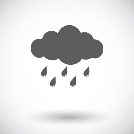 hailstorm: Rain. Single flat icon on white background. Vector illustration.