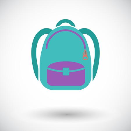 schoolbag: Schoolbag. Single flat icon on white background. Vector illustration. Illustration