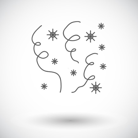Serpentine. Single flat icon on white background. Vector illustration.
