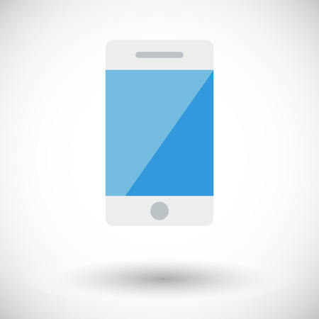 gsm phone: Smartphone. Single flat icon on white background. Vector illustration.