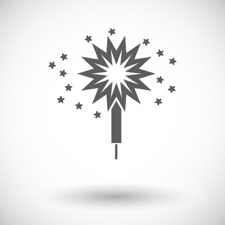 sparkler: Sparkler. Single flat icon on white background. Vector illustration. Illustration