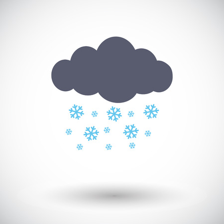 snowfall: Snowfall. Single flat icon on white background. Vector illustration. Illustration