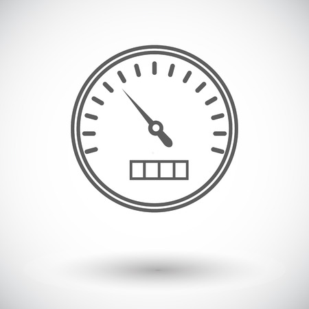 speedmeter: Speedometer. Single flat icon on white background. Vector illustration. Illustration