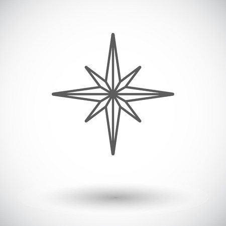 the wind rose: Wind rose. Single flat icon on white background. Vector illustration.
