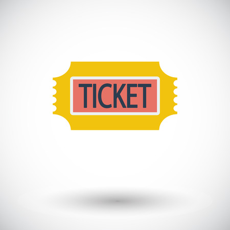 single entry: Ticket. Single flat icon on white background. Vector illustration. Illustration