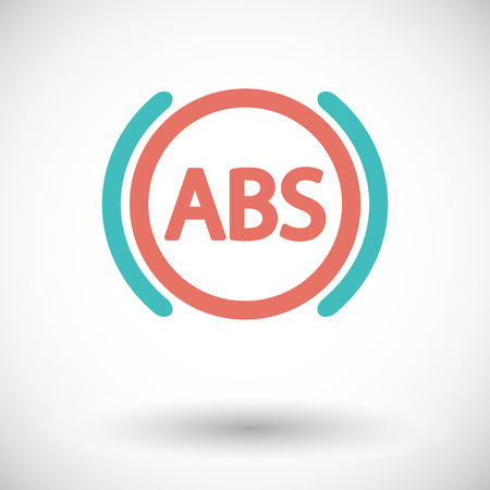 malfunction: ABS. Single flat icon on white background. Vector illustration. Illustration