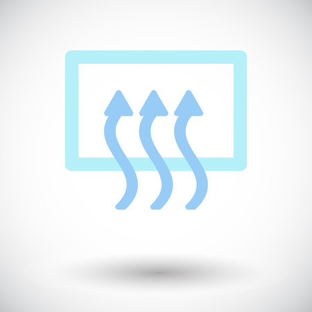 defrost: Rear window defrost. Single flat icon on white background. Vector illustration.