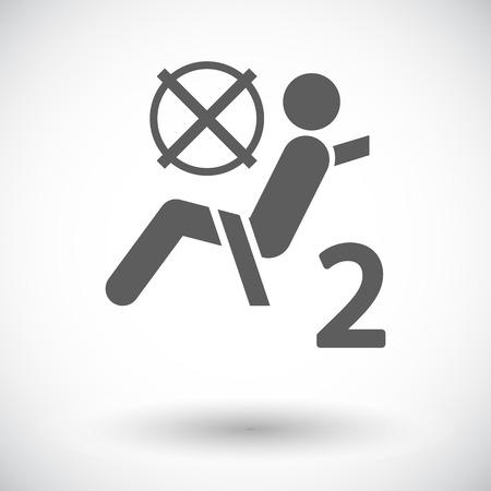 Seat belt. Single flat icon on white background. Vector illustration. Illustration