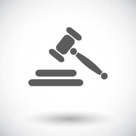 auction gavel: Auction gavel. Single flat icon on white background. Vector illustration.
