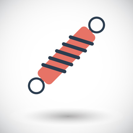 shock absorber: Automobile shock absorber. Single flat icon on white background. Vector illustration. Illustration