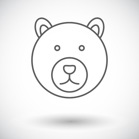 petting zoo: Bear. Single flat icon on white background. Vector illustration.
