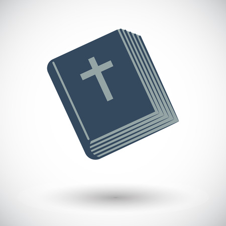 Bible. Single flat icon on white background. Vector illustration. Vector