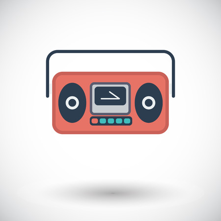 boom box: Boom box. Single flat icon on white background. Vector illustration.